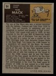1971 Topps #94  Tom Mack  Back Thumbnail