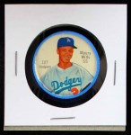 1962 Salada Coins #127 RED Maury Wills    Front Thumbnail