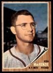 1962 Topps #421  Ken MacKenzie  Front Thumbnail