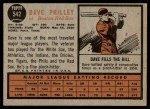 1962 Topps #542  Dave Philley  Back Thumbnail