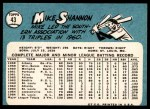 1965 Topps #43  Mike Shannon  Back Thumbnail