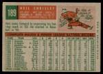 1959 Topps #189  Neil Chrisley  Back Thumbnail