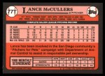 1989 Topps Traded #77 T Lance McCullers  Back Thumbnail