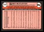 1989 Topps Traded #11 T Bert Blyleven  Back Thumbnail