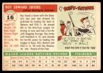 1955 Topps #16  Roy Sievers  Back Thumbnail