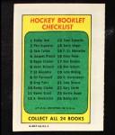 1971 Topps O-Pee-Chee Booklets #21  Jude Drouin  Back Thumbnail