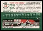 2003 Topps Heritage #18 BLK Lance Berkman   Back Thumbnail