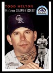 2003 Topps Heritage #20 BLK Todd Helton   Front Thumbnail