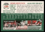 2003 Topps Heritage #150 BLK Mike Piazza   Back Thumbnail