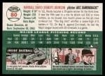 2003 Topps Heritage #80 BLK Randy Johnson   Back Thumbnail
