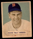 1949 Bowman #211  Dave Ferris  Front Thumbnail