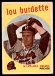 1959 Topps #440  Lew Burdette  Front Thumbnail