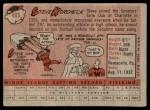 1958 Topps #403  Steve Korcheck  Back Thumbnail
