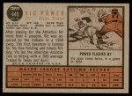 1962 Topps #445  Vic Power  Back Thumbnail