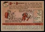 1958 Topps #456  Dick Brown  Back Thumbnail