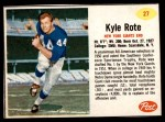 1962 Post #27  Kyle Rote  Front Thumbnail