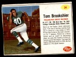 1962 Post #34  Tom Brookshier  Front Thumbnail