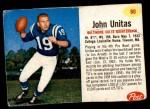 1962 Post #90  Johnny Unitas  Front Thumbnail