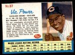 1962 Post #37  Vic Power   Front Thumbnail