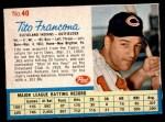 1962 Post #40  Tito Francona   Front Thumbnail