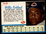 1962 Post #41  Willie Kirkland   Front Thumbnail