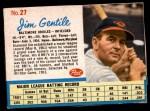 1962 Post #27 BAL Jim Gentile   Front Thumbnail