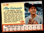 1962 Post #168  Alex Grammas   Front Thumbnail