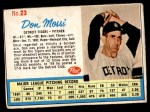 1962 Post Cereal #23  Don Mossi   Front Thumbnail