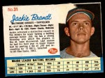 1962 Post #31  Jackie Brandt   Front Thumbnail