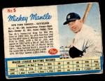 1962 Post #5 xAD Mickey Mantle   Front Thumbnail