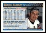 1998 Topps #344  Wilson Alvarez  Back Thumbnail