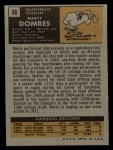 1971 Topps #66  Marty Domres  Back Thumbnail