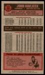 1976 Topps #90  John Havlicek  Back Thumbnail