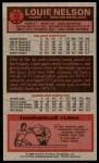 1976 Topps #17  Louie Nelson  Back Thumbnail