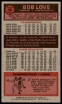 1976 Topps #45  Bob Love  Back Thumbnail