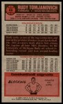 1976 Topps #66  Rudy Tomjanovich  Back Thumbnail