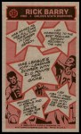 1976 Topps #132  Rick Barry  Back Thumbnail