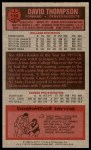 1976 Topps #110  David Thompson  Back Thumbnail