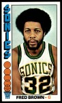 1976 Topps #15  Fred Brown  Front Thumbnail