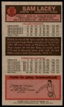 1976 Topps #67  Sam Lacey  Back Thumbnail