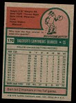 1975 Topps #170  Bert Campaneris  Back Thumbnail