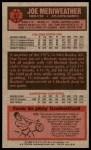 1976 Topps #37  Joe Meriweather  Back Thumbnail