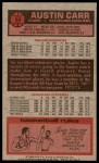 1976 Topps #53  Austin Carr  Back Thumbnail
