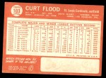 1964 Topps #103  Curt Flood  Back Thumbnail