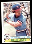 1979 Topps #369 ERR Bump Wills  Front Thumbnail