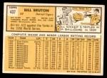 1963 Topps #437  Billy Bruton  Back Thumbnail