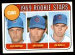 1969 Topps #602 VIS  -  Alec Distaso / Don Young / Jim Qualls Cubs Rookies Front Thumbnail