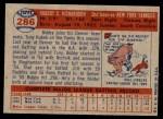 1957 Topps #286  Bobby Richardson  Back Thumbnail