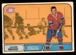 1968 O-Pee-Chee #163  Claude Provost  Front Thumbnail