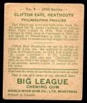 1934 World Wide Gum #9  Clifton Heathcote  Back Thumbnail